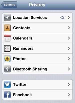 Ios 6 Privacy Settings