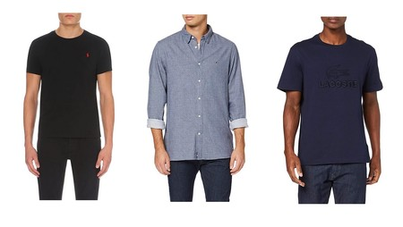 Chollos en tallas sueltas de camisas, camisetas y sudaderas de marcas como Tommy Hilfiger, Lacoste o Ralph Lauren en Amazon para regalar el Día del Padre