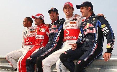 """Gran Premio de Corea del Sur de Fórmula 1: Los cinco candidatos al título posan para una foto """"revival"""""""