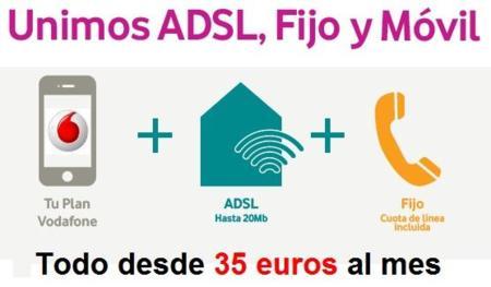 Vodafone rebaja a 35 euros su ADSL indirecto para clientes de móvil