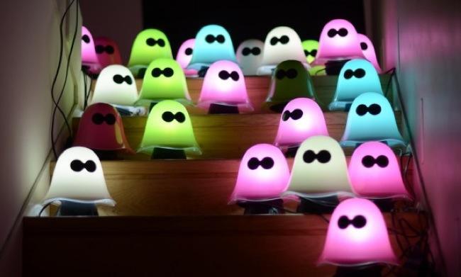 lmparas fantasma para decorar la casa en halloween