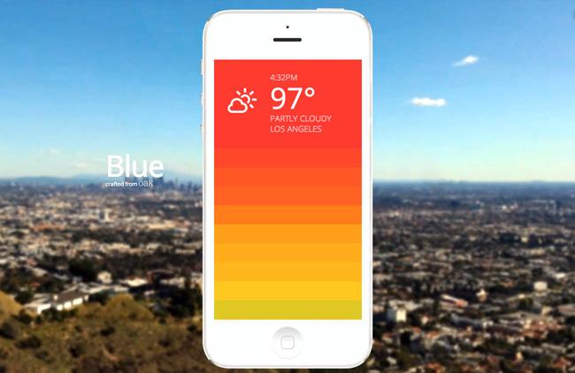 aplicaciones tiempo - blue