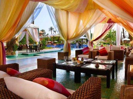 Descanso bajo las palmeras de Marrakech