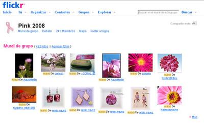 Pink 2008, fotos rosas para la lucha contra el cáncer de mama