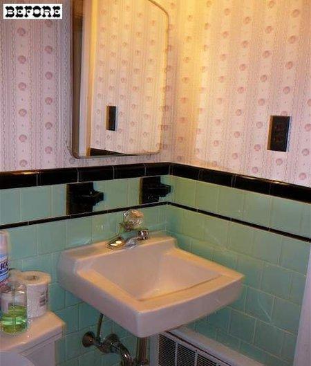 Antes y después: un baño que pasa a negro sin obras