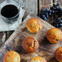 Cómo hacer fácilmente unos muffins de uva