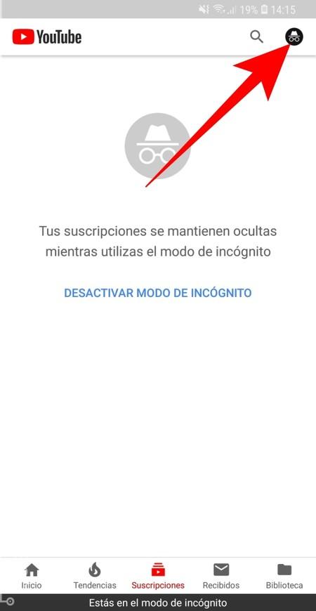 Desactivar Modo Incognito