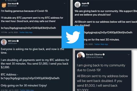 Hackean Twitter: las cuentas de Apple, Uber, Obama y Elon Musk promocionan una estafa de Bitcoin