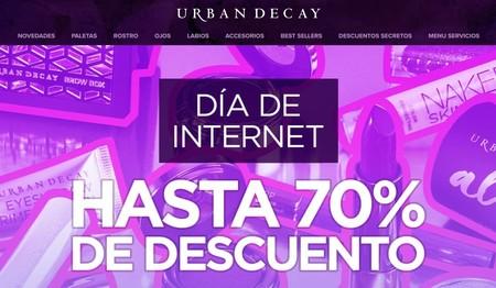 Puedes celebrar el Día de Internet con Urban Decay y ahorrar hasta un 70% en cosmética sólo hoy hasta medianoche