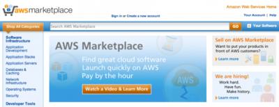 Amazon lanza AWS Marketplace, un mercado de componentes software para crear maquinas en la nube en un click
