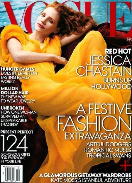 Las hay divinas y luego viene lo de Jessica Chastain para la portada de la revista Vogue