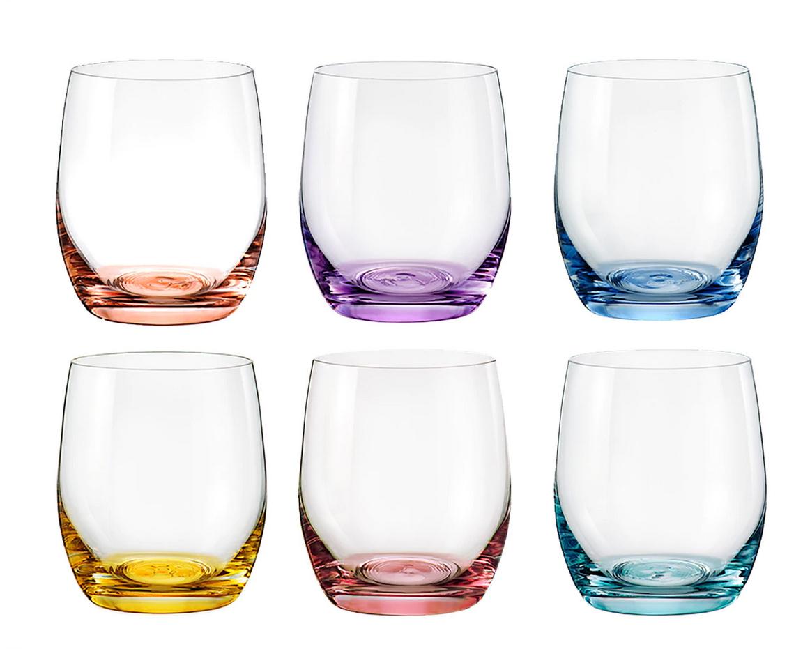 Juego de 6 vasos de agua Spectrum Bohemia.