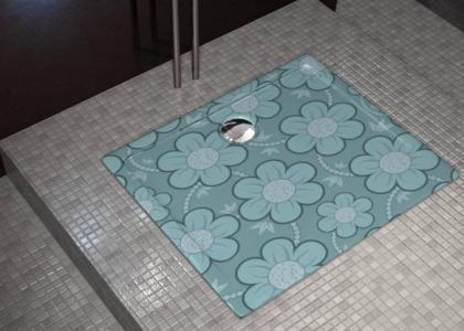 Platos de ducha florales