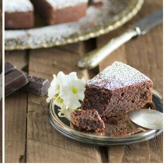 Receta de torta caprese, un suculento pastel de chocolate italiano sin gluten