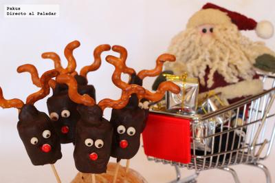 Renos de chocolate y nubes. Receta de Navidad
