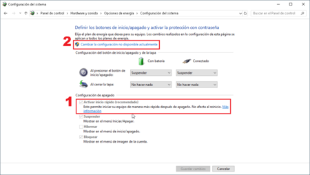 Como Activar Inicio Rapido Windows 10