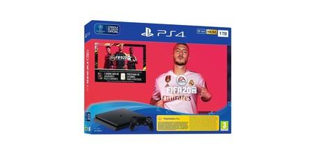 En los eBay Days, con el cupón PARATODOEBAY, puedes hacerte con la PS4 Slim de 1 TB con FIFA 20 y 14 días de PSN por sólo 266,35 euros