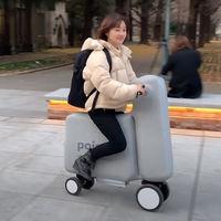 Este híbrido entre bicicleta y patinete eléctrico hinchable cabe en una mochila y puede marcar el futuro de la movilidad