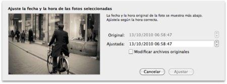 Ajusta las fechas de varías fotografías desde iPhoto