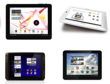 Cuatro tablets con Android 4.0 por menos de 200 euros