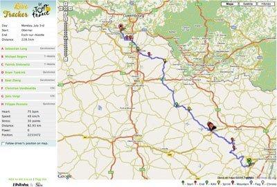 Tour de Francia: seguimiento vía Google Maps