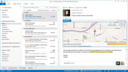 Outlook 2013 Bing Web App
