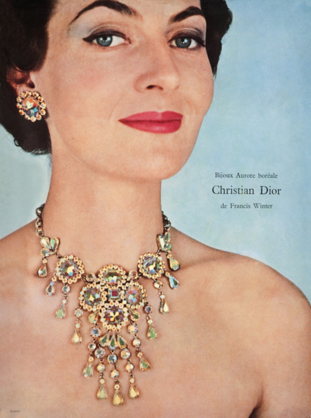 Christian Dior Jewelry Made With Aurora Borealis Crystal 1960
