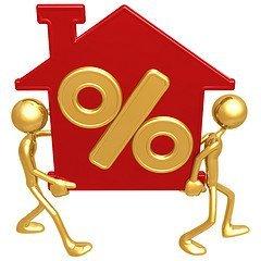Los préstamos hipotecarios hacen usos de porcentajes para calcular las cuotas