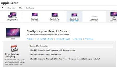 La Apple Store añade las configuraciones más populares a su sistema de compra