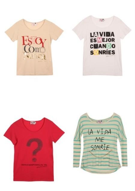 Camisetas mensaje dolores promesas