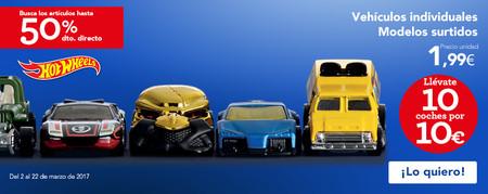 Promoción Hot Wheels en Toys 'r us: 50% de descuento directo por la compra de 10 coches