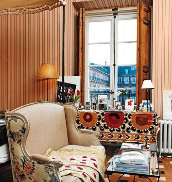 Un detalle del dormitorio de Carolina Herrera Jr.