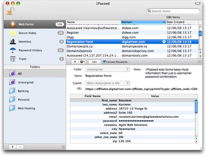 1passwd, gestión de contraseñas para Mac