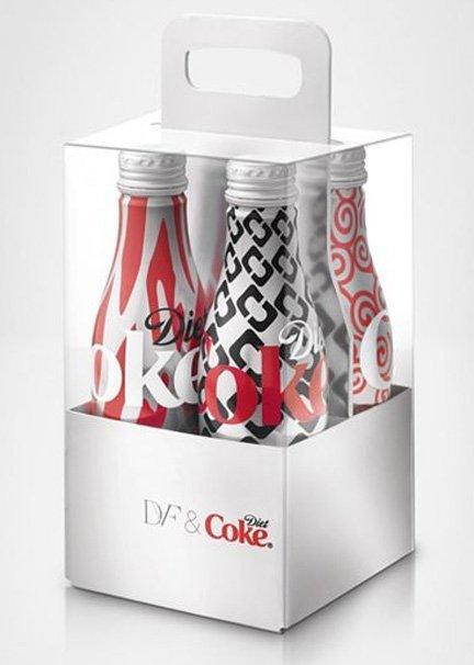 Pack de botellas Diet Coke diseñadas por Diane von Furstenberg