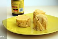 Bizcochos de crema de queso. Receta de microondas