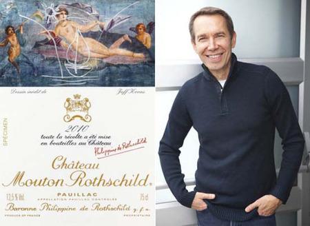 Jeff Koons ha diseñado la nueva etiqueta del millésime 2010 de château Mouton Rothschild