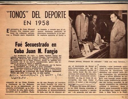 Secuestro Juan Manuel Fangio Cuba