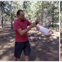 """Zarandea bruscamente a su bebé para que se sienta en """"perfecta armonía con la naturaleza"""""""