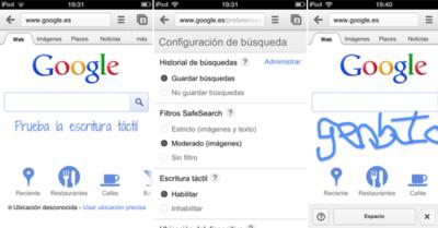 Google ahora permite hacer búsquedas a mano con smartphones y tablets gracias a Google Handwrite