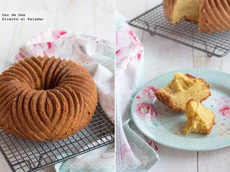 Receta de bundt cake de nata y vainilla, un fabuloso bizcocho que no necesita adornos