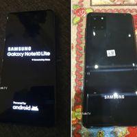 """Galaxy Note 10 Lite: estas son las primeras fotos que confirman el diseño del """"pequeño Note"""" de Samsung"""