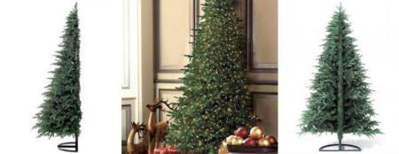Decoración navideña: Flat Back Christmas Tree... o medio árbol de Navidad