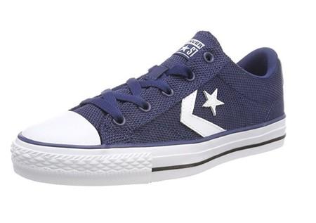 Desde sólo 18,67 euros podemos estrenar unas zapatillas Converse Star Player Ox Navy gracias a Amazon