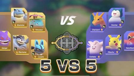 Pokemon Unite Moba 5 Contra 5
