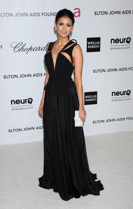 Nina Dobrev en la fiesta de Elton John 2012