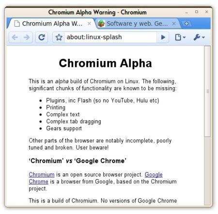 Chromium Browser para GNU/Linux alcanza el estado de Alpha