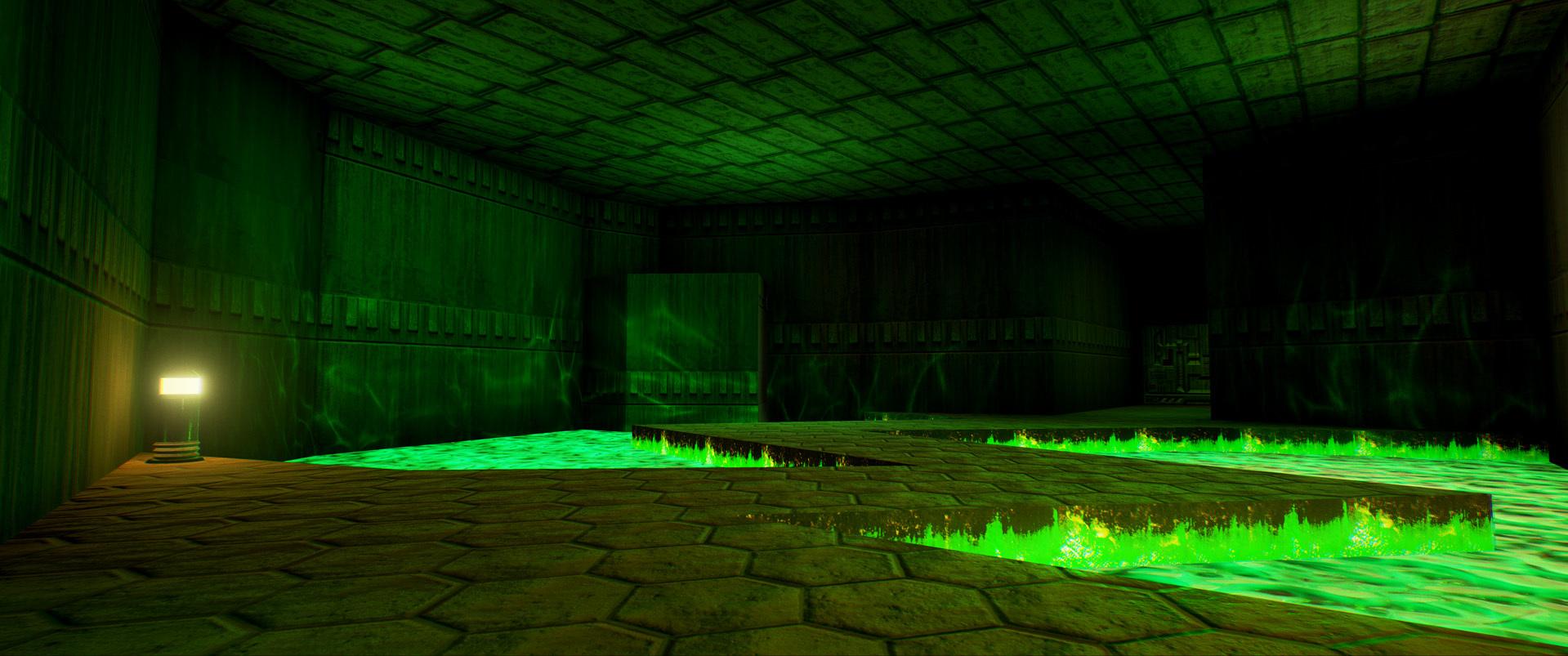 Foto de Nivel E1M1 de Doom en Unreal Engine (11/13)