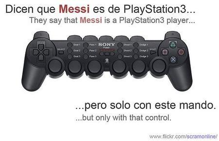 """Imagen de la semana: el mando de Messi, """"el jugador Playstation"""""""