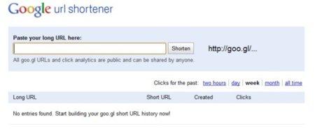 Goo.gl ahora puede usarse como un acortador de URLs normal