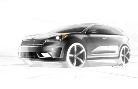 KIA Niro Hybrid Concept, un par de bocetos para anticipar su nuevo crossover híbrido